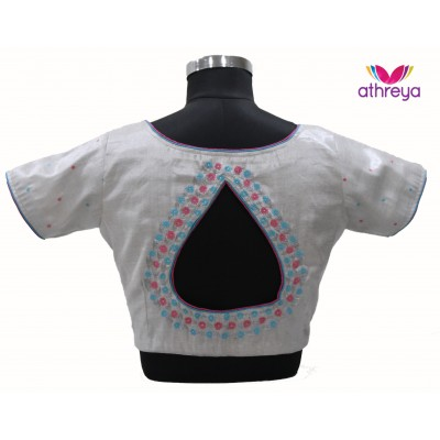 Machine Embroidery Blouse-ME021